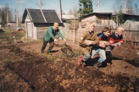 Посев семян в открытый грунт.