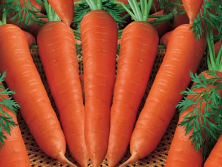 Целая, не треснувшая морковка.