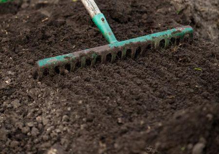 Подготовка почвы для посадки клубники.