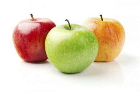 Яблочки зеленые, красные, желтые