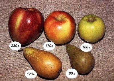 Сколько калорий в яблоках