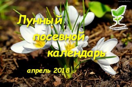 Лунный посевной календарь на апрель 2018 г