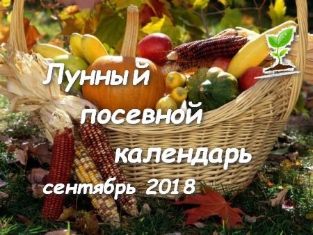 Лунный посевной календарь сентябрь 2018